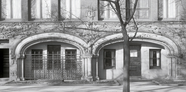 Detail of Adams house from Harris & Ewing photography when it was occupied by the Brazilian Embassy, ca 1920 (Prints & Photographs Division, Library of Congress)